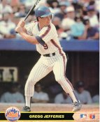 Gregg Jefferies LIMITED STOCK New York Mets Glossy Card Stock 8X10 Photo