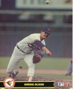 Gregg Olson LIMITED STOCK Baltimore Orioles Glossy Card Stock 8X10 Photo