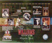 Ted Williams Through The Years Numbered Limited Edition Boston Red Sox 8X10 Photo
