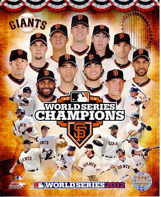Giants 2012 World Series Champions Composite San Francisco SATIN 8X10 Photo