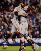Sergio Romo & Buster Posey 2012 World Series Game 4 Celebration San Fran Giants 8X10 Photo