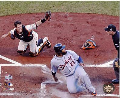 Buster Posey 2012 World Series Game 2 Tags Out Prince Fielder San Fran Giants 8X10 Photo
