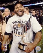 Pablo Sandoval w/ MVP Trophy 2012 WS San Francisco Giants 8X10 Photo