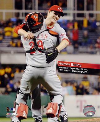 Homer Bailey No Hitter September 28,2012 Cincinnati Reds 8x10 Photo