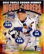 Miguel Cabrera 2012 Triple Crown Winner LIMITED STOCK Detroit Tigers 8X10 Photo