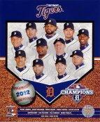 Miguel Cabrera, Justin Verlander, Prince Fielder, Anibal Sanchez, Jose Valverde, Jhonny Peralta 2012 AL Champs LIMITED STOCK Detroit Tigers 8X10 Photo