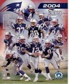 Ty Law, Tedy Bruschi, Troy Brown, Tom Brady Patriots 2004 LIMITED STOCK New England 8x10 Photo
