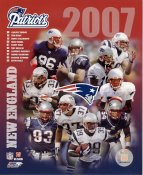 Donte Stallworth, Randy Moss, Mike Vrabel, Tom Brady, Kevin Faulk LIMITED STOCK 2007 New England Patriots 8X10 Photo
