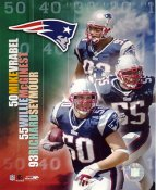 Mike Vrabel, Willie McGinest & Richard Seymour LIMITED STOCK New England Patriots 8x10 Photo