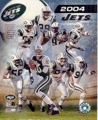Chad Pennington, Santana Moss, Wayne Chrebet, Curtis Martin LIMITED STOCK 2004 New York Jets 8X10 Photo