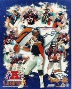 Jason Elam, Atwater, Sharpe, McCaffrey, Romanowski, Elway LIMITED STOCK Denver Broncos 1998 Western Division Champs 8X10 Photo