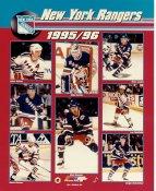 Mike Richter, Brian Leetch, Adam Graves, Mark Messier LIMITED STOCK 1995-1996 New York Rangers 8x10 Photo