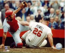 Boog Powell Sliding into Johnny Bench LIMITED STOCK Baltimore Orioles 8X10 Photo