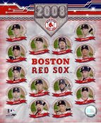 Kevin Youklis, Mike Lowell, Manny Ramirez, David Ortiz, Jason Varitek, Jacoby Ellsbury Boston 2008 Red Sox Team LIMITED STOCK 8x10 Photo
