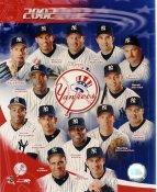 Mike Mussina, Derek Jeter, Roger Clemens, Mariano Rivera, Andy Pettitte, Jorge Posada LIMITED STOCK 2002 New York Yankees 8X10 Photo