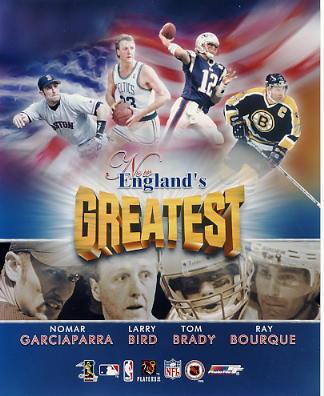 Nomar Garciaparra, Larry Bird, Tom Brady, Ray Bourque LIMITED STOCK New Englands Greatest 8x10 Photo