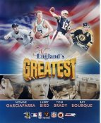 Nomar Garciaparra, Larry Bird, Tom Brady, Ray Bourque LIMITED STOCK New Englands Greatest 8x10 Photo