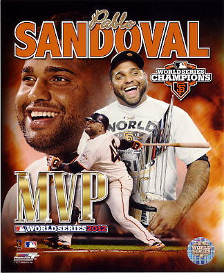 Pablo Sandoval 2012 WorldSeries MVP LIMITED STOCK San Francisco Giants 8X10 Photo
