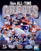Steve Grogan, Tom Brady, Ty Law, Adam Vinatieri, Wes Welker, Tedy Bruschi All Time Greats New England Patriots 8X10 Photo LIMITED STOCK -