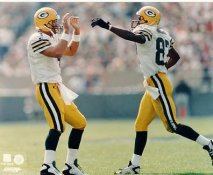 Brett Favre & Robert Brooks LIMITED STOCK Green Bay Packers 8X10 Photo