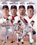 Curt Schilling, David Wells, Tim Wakefield & Keith Foulke LIMITED STOCK Boston Red Sox 8x10 Photo