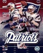 Corey Dillon, Adam Vinatieri, Tom Brady LIMITED STOCK New England Patriots 8X10 Photo
