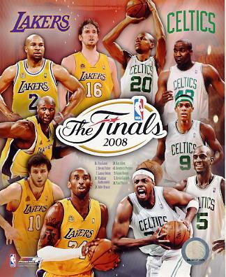 Ray Allen, Kendrick Perkins, Rajon Rondo, Paul Pierce, Kevin Garnett LIMITED STOCK 2008 Celtics vs Lakers 8X10 Photo