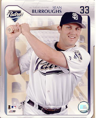 Sean Burroughs LIMITED STOCK San Diego Padres 8X10 Photo