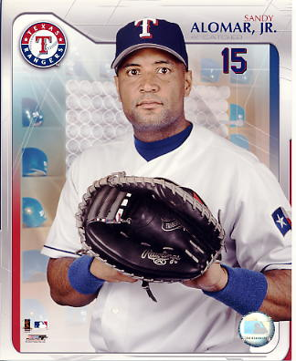 Sandy Alomar Jr LIMITED STOCK Texas Rangers 8X10 Photo