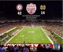 N2 Sun Life Stadium 2012 BCS National Championship Alabama 42 Notre Dame 14 SATIN Photo 8X10