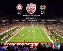 N2 Sun Life Stadium 2012 BCS National Championship Alabama 42 Notre Dame 14 SATIN Photo 8X10