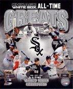 Minnie Minoso, Robin Ventura, Harold Baines, Paul Konerko, Luis Aparicio, Carlton Fisk Chicago White Sox All Time Greats 8X10 Photo LIMITED STOCK -