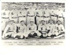 Malachi Kittridge, Tommy Leach, Dummy Hoy, Josh Clarke, Nick Altrock LIMITED STOCK 1898 Louisville Colonels Vintage Baseball Team Photo 8X10 Photo