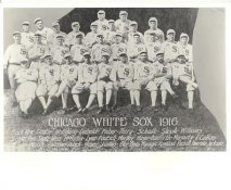 Mellie Wolfgang, Eddie Cicotte, Happy Felsch, Nemo Leibold, Joe Fautsch, Jack Fournier, Ray Schalk LIMITED STOCK 1916 Chicago White Sox Vintage Baseball Team Photo 8X10 Photo