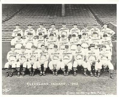 Jim Bagby, Ken Keltner, George Susce, Lou Boudreau, Oris Hockett, Roy Weatherly, Vern Kennedy LIMITED STOCK 1942 Cleveland Indians Vintage Baseball Team Photo 8X10 Photo