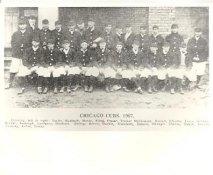 Joe Tinker, Frank Chance, Johnny Evers, Mordecai Brown, Jack Taylor, Ed Ruelbach LIMITED STOCK 1907 Chicago Cubs Vintage Baseball Team Photo 8X10 Photo
