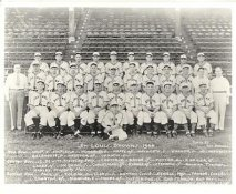 Mike Kreevich, George Caster, Bob Muncrief, Al Hollingsworth, Denny Galehouse LIMITED STOCK 1944 St. Louis Browns Vintage Baseball Team Photo 8X10 Photo