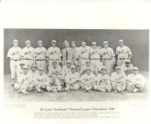 James Lindsey, Hi Bell, George Puccinelli, Taylor Douthit, Andy High, Gus Mancuso LIMITED STOCK 1930 St. Louis Cardinals National League Champions Vintage Baseball Team Photo 8X10 Photo