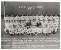 Elmer Riddle, Eric Tipton, Joe Beggs, Ed Heusser, Johnny VanderMeer LIMITED STOCK 1943 Cincinnati  Vintage Baseball Team Photo 8X10 Photo