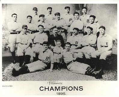 Baltimore Champions 1895 LIMITED STOCK Vintage Baseball Team Photo 8X10 Photo
