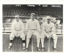 Duffy Lewis, Pinch Thomas, Hick Cady LIMITED STOCK Boston Red Sox Vintage Baseball Team Photo 8X10 Photo