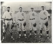 Harry Steinfeldt, Johnny Evers, Joe Tinker, Frank Chance LIMITED STOCK Chicago Cubs Vintage Baseball Team Photo 8X10 Photo