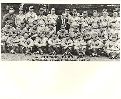 Chicago Cubs 1938 LIMITED STOCK Vintage Baseball Team Photo 8X10 Photo