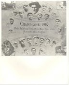 Paddy Livingston, Eddie Collins, Jack Barry, Ben Houser, Amos Strunk, Bris Lord LIMITED STOCK 1910 Philadelphia Athletics Vintage Baseball Team Photo 8X10 Photo