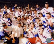 Rangers 1994 Team on Ice Stanley Cup Winners New York SATIN 8x10 Photo