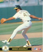 Dennis Eckersley Oakland Athletics LIMITED STOCK Glossy Card Stock 8X10 Photo