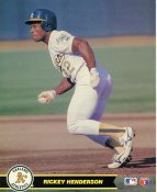 Rickey Henderson Oakland Athletics LIMITED STOCK Glossy Card Stock 8X10 Photo