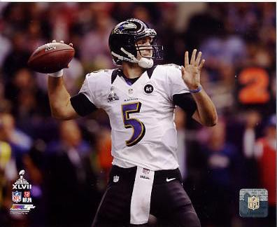 Joe Flacco Super Bowl 47 Baltimore Ravens SATIN 8X10 Photo