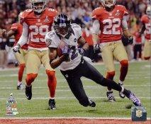 Jacoby Jones Super Bowl 47 Touchdown Baltimore Ravens SATIN 8X10 Photo