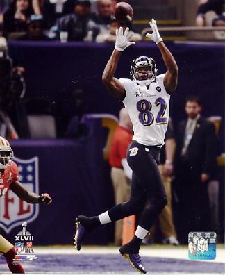Torrey Smith Super Bowl 47 Baltimore Ravens SATIN 8X10 Photo